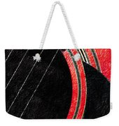 Diptych Wall Art - Macro - Red Section 2 Of 2 - Giants Colors Music - Abstract Weekender Tote Bag