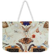 Diptych With Flowers And Insects Weekender Tote Bag