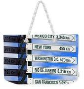 Direction Signs Weekender Tote Bag