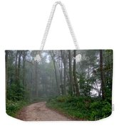 Dirt Path In Forest Woods With Mist Weekender Tote Bag