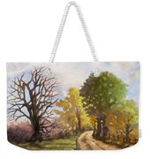 Dirt Road To Some Place Weekender Tote Bag