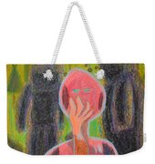 Disappearance Of The Woman And Her Own Two Stone Children With Clouds On Wheels Weekender Tote Bag