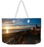 Discovery Park Lighthouse Sunset Weekender Tote Bag