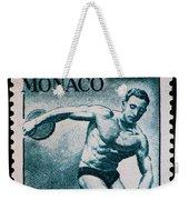 Discus Vintage Postage Stamp Print Weekender Tote Bag