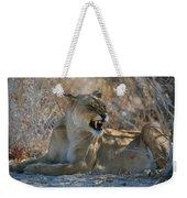 Disgruntled Lioness Weekender Tote Bag