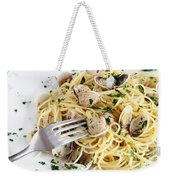 Dish Of Spaghetti With Clams Weekender Tote Bag