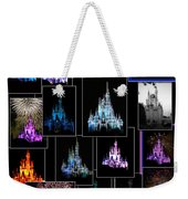 Disney Magic Kingdom Castle Collage Weekender Tote Bag