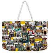 Disneyland Toontown Yellow Collage Weekender Tote Bag
