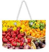 Display Of Fresh Vegetables At The Market Weekender Tote Bag