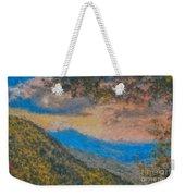 Distant Mountains - Digital Impression Paint Weekender Tote Bag