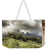 Distant Mountains Weekender Tote Bag