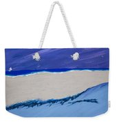 Distant Sailboat Weekender Tote Bag by Melissa Dawn