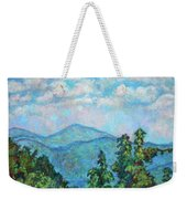 Distant View Of Peaks Of Otter Weekender Tote Bag