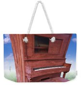 Distorted Upright Piano Weekender Tote Bag
