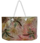 Rustic Dragonflies Pinks Weekender Tote Bag