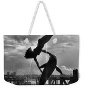 Diver And Dolphin Weekender Tote Bag