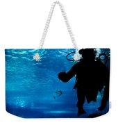 Diving In The Ocean Underwater Weekender Tote Bag