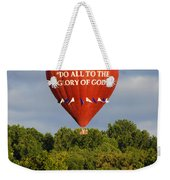 Do All To The Glory Of God Balloon Weekender Tote Bag
