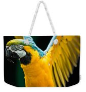 Do Your Exercise Daily Blue And Yellow Macaw Weekender Tote Bag