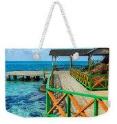 Dock And Tropical Water Weekender Tote Bag