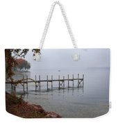 Dock On A Lake In Autumn Weekender Tote Bag
