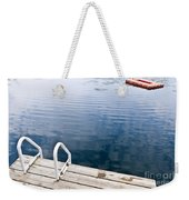 Dock On Calm Summer Lake Weekender Tote Bag