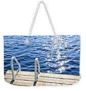 Dock On Summer Lake With Sparkling Water Weekender Tote Bag