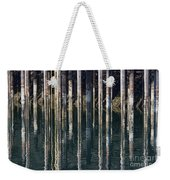 Dock Pilings Weekender Tote Bag