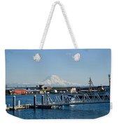 Dock View Of Mt. Rainier Weekender Tote Bag