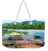 Docking Area On River Kwai In Kanchanaburi-thailand Weekender Tote Bag