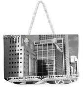 Docklands London Mono Weekender Tote Bag