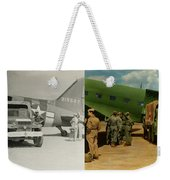 Doctor - 1942 - Delivering Blood - Side Weekender Tote Bag by Mike Savad