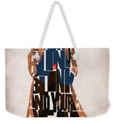 Doctor Who Inspired Tenth Doctor's Typographic Artwork Weekender Tote Bag