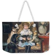 Doddy And Her Pets Weekender Tote Bag by Charles Trevor Grand