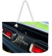 Dodge Challenger 440 Magnum Rt Taillight Emblem Weekender Tote Bag by Jill Reger