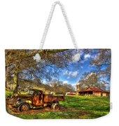 Dodge Dump Truck Farm Barn Scene Weekender Tote Bag