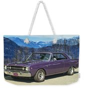 Dodge- Mountain Background Weekender Tote Bag
