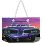 Dodge Rt Double Exposure Purple Sunset Weekender Tote Bag