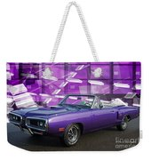 Dodge Rt Purple Abstract Background Weekender Tote Bag