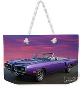 Dodge Rt Purple Sunset Weekender Tote Bag
