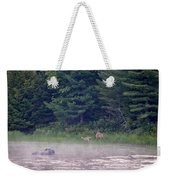 Doe And Fawn In The Early Morning Weekender Tote Bag