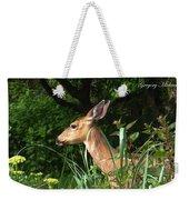 Doe In Tall Grass Weekender Tote Bag