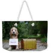 Dog And Suitcase Weekender Tote Bag
