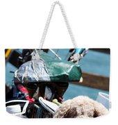 Dog Bike Weekender Tote Bag
