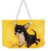 Dog Chihuahua Yellow Splash Weekender Tote Bag