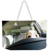 Dog Driving A Car Weekender Tote Bag