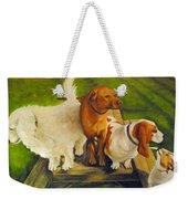 Dog Friends Weekender Tote Bag