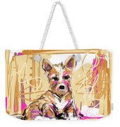 dog I did not make this mess Weekender Tote Bag