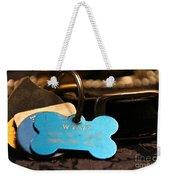 Dog Id Weekender Tote Bag