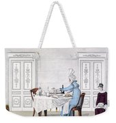 Dog Mania, Plate 106 From Le Bon Genre Weekender Tote Bag
